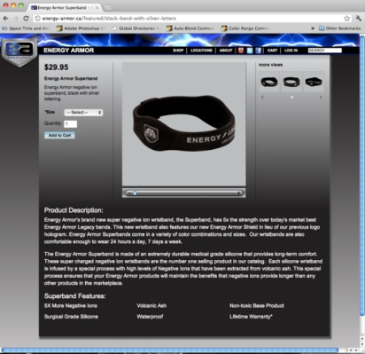 Energy Armor Canada marketing materials